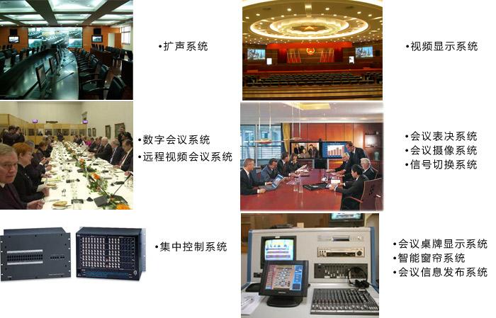 完整的现代电子会议系统主要包括: