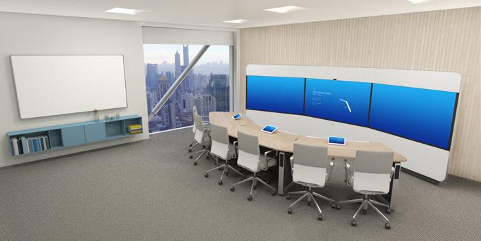 大型高端会议室沉浸式网真解决方案